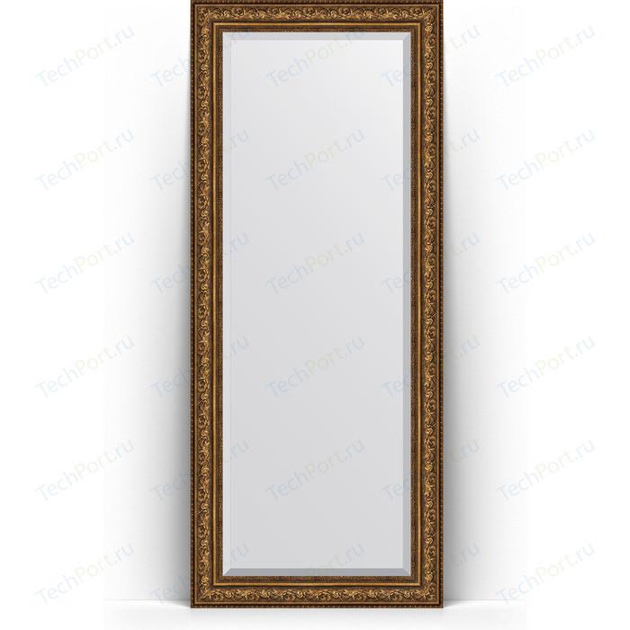 Зеркало напольное с фацетом Evoform Exclusive Floor 85x205 см, в багетной раме - виньетка состаренная бронза 109 мм (BY 6137) зеркало с фацетом в багетной раме evoform exclusive 60x80 см виньетка состаренная бронза 109 мм by 3401
