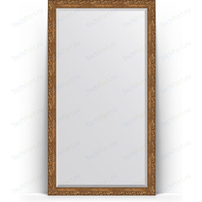 Зеркало напольное с фацетом Evoform Exclusive Floor 110x200 см, в багетной раме - виньетка бронзовая 85 мм (BY 6152)