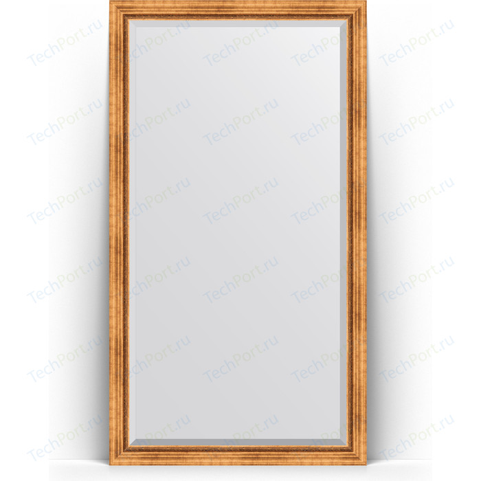 Зеркало напольное с фацетом Evoform Exclusive Floor 111x201 см, в багетной раме - римское золото 88 мм (BY 6157) зеркало напольное с гравировкой evoform exclusive g floor 81x201 см в багетной раме римское золото 88 мм by 6317