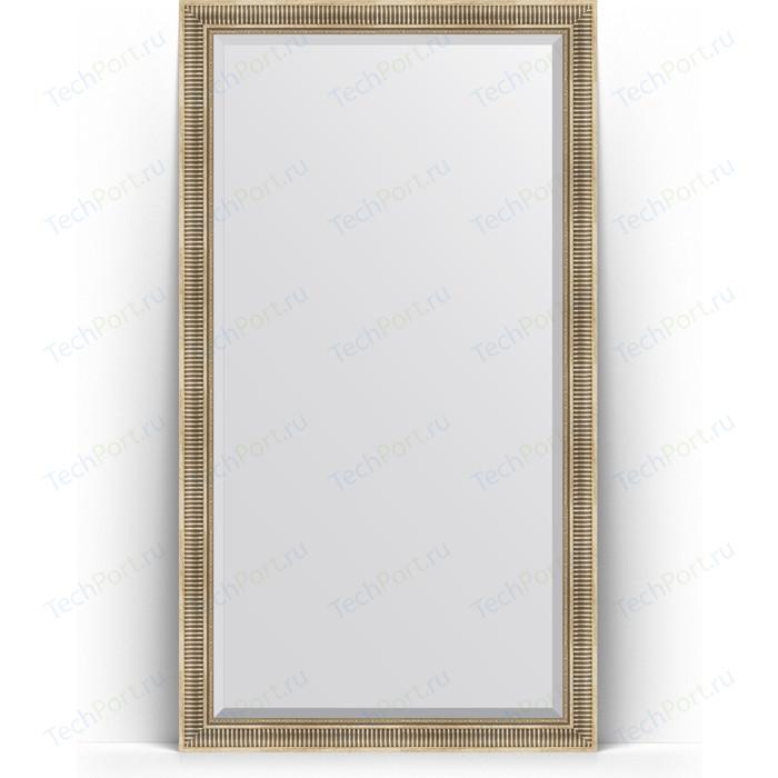 Зеркало напольное с фацетом Evoform Exclusive Floor 112x202 см, в багетной раме - серебряный акведук 93 мм (BY 6161)