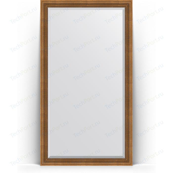 Фото - Зеркало напольное с фацетом Evoform Exclusive Floor 112x202 см, в багетной раме - бронзовый акведук 93 мм (BY 6162) зеркало с фацетом в багетной раме поворотное evoform exclusive 57x77 см бронзовый акведук 93 мм by 3388