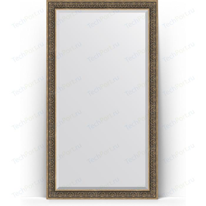 Зеркало напольное с фацетом Evoform Exclusive Floor 114x204 см, в багетной раме - вензель серебряный 101 мм (BY 6172) зеркало напольное с фацетом evoform exclusive floor 84x204 см в багетной раме вензель серебряный 101 мм by 6132