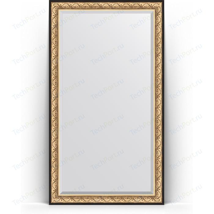Зеркало напольное с фацетом Evoform Exclusive Floor 115x205 см, в багетной раме - барокко золото 106 мм (BY 6173)