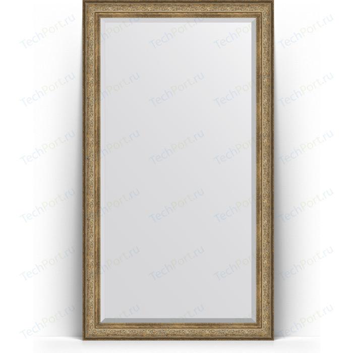 Зеркало напольное с фацетом Evoform Exclusive Floor 115x205 см, в багетной раме - виньетка античная бронза 109 мм (BY 6175)