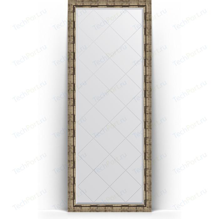 Фото - Зеркало напольное с гравировкой Evoform Exclusive-G Floor 78x198 см, в багетной раме - серебряный бамбук 73 мм (BY 6307) зеркало с гравировкой поворотное evoform exclusive g 53x71 см в багетной раме серебряный бамбук 73 мм by 4007