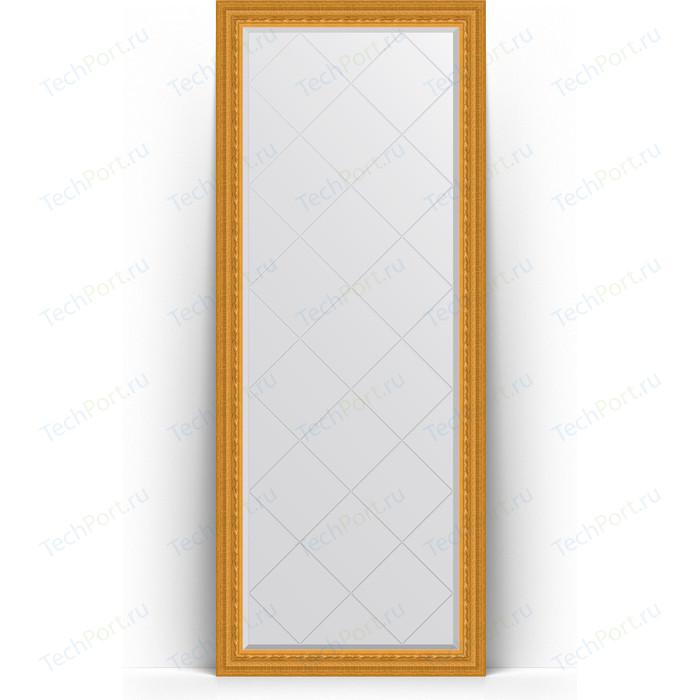 Зеркало напольное с гравировкой Evoform Exclusive-G Floor 80x199 см, в багетной раме - сусальное золото 80 мм (BY 6309) зеркало evoform exclusive floor 199х100 сусальное золото