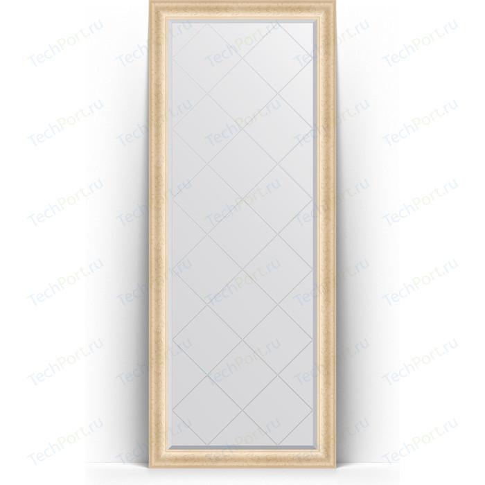 Зеркало напольное с гравировкой Evoform Exclusive-G Floor 80x200 см, в багетной раме - старый гипс 82 мм (BY 6310) зеркало evoform exclusive g floor 200х110 старый гипс