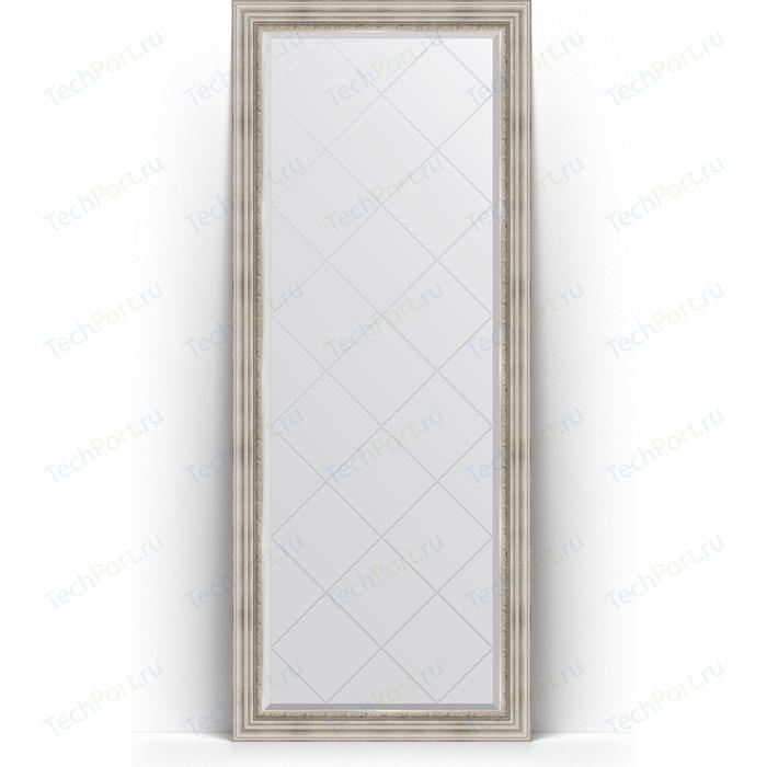 Зеркало напольное с гравировкой Evoform Exclusive-G Floor 81x201 см, в багетной раме - римское серебро 88 мм (BY 6318) зеркало с гравировкой evoform exclusive g 86x86 см в багетной раме римское серебро 88 мм by 4319