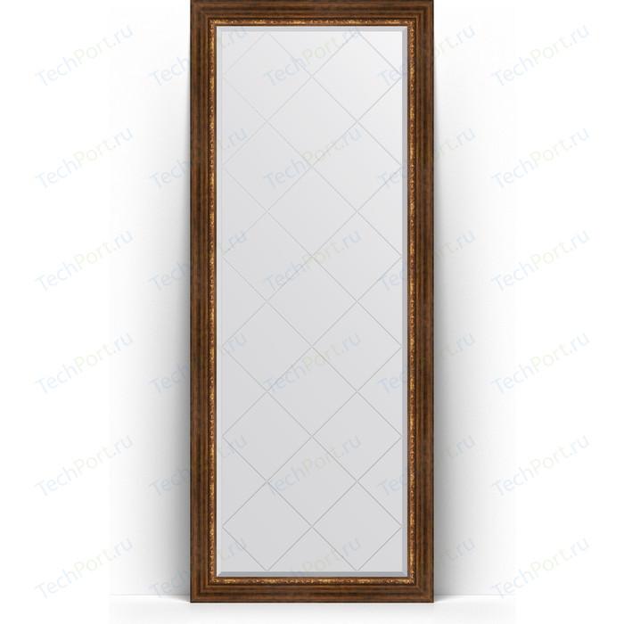 Зеркало напольное с гравировкой Evoform Exclusive-G Floor 81x201 см, в багетной раме - римская бронза 88 мм (BY 6319) зеркало напольное с гравировкой evoform exclusive g floor 81x201 см в багетной раме римское золото 88 мм by 6317