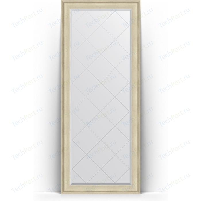 Зеркало напольное с гравировкой Evoform Exclusive-G Floor 83x203 см, в багетной раме - травленое серебро 95 мм (BY 6323)