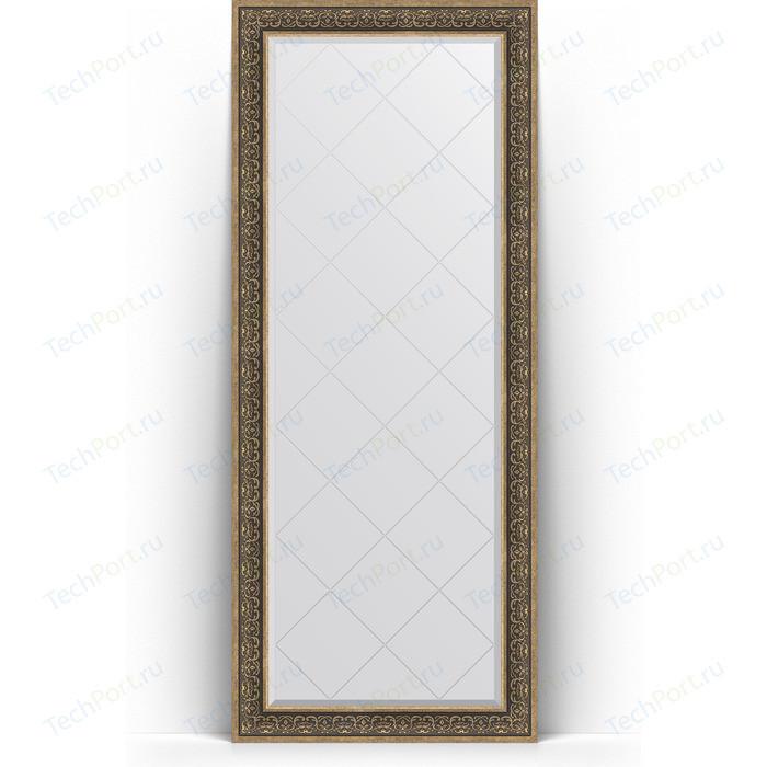 Зеркало напольное с гравировкой Evoform Exclusive-G Floor 84x204 см, в багетной раме - вензель серебряный 101 мм (BY 6332) зеркало напольное с фацетом evoform exclusive floor 84x204 см в багетной раме вензель серебряный 101 мм by 6132