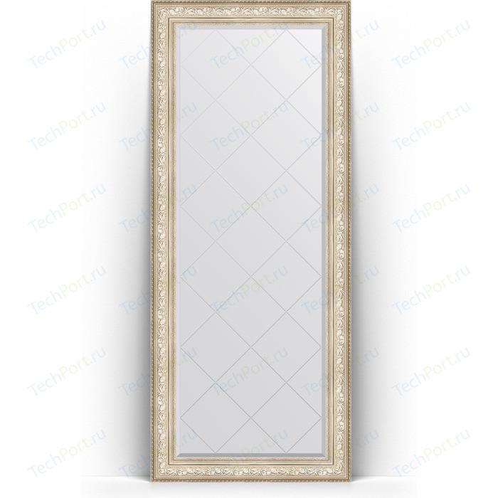 Фото - Зеркало напольное с гравировкой Evoform Exclusive-G Floor 85x205 см, в багетной раме - виньетка серебро 109 мм (BY 6336) зеркало напольное с фацетом evoform exclusive floor 85x205 см в багетной раме виньетка античная бронза 109 мм by 6135