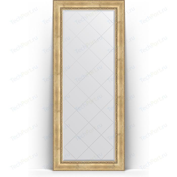 Зеркало напольное с гравировкой Evoform Exclusive-G Floor 87x207 см, в багетной раме - состаренное серебро с орнаментом 120 мм (BY 6338) зеркало напольное 87х207 см состаренное дерево с орнаментом evoform exclusive floor by 6140