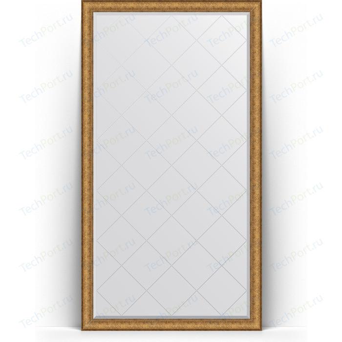 Зеркало напольное с гравировкой Evoform Exclusive-G Floor 109x198 см, в багетной раме - медный эльдорадо 73 мм (BY 6346)