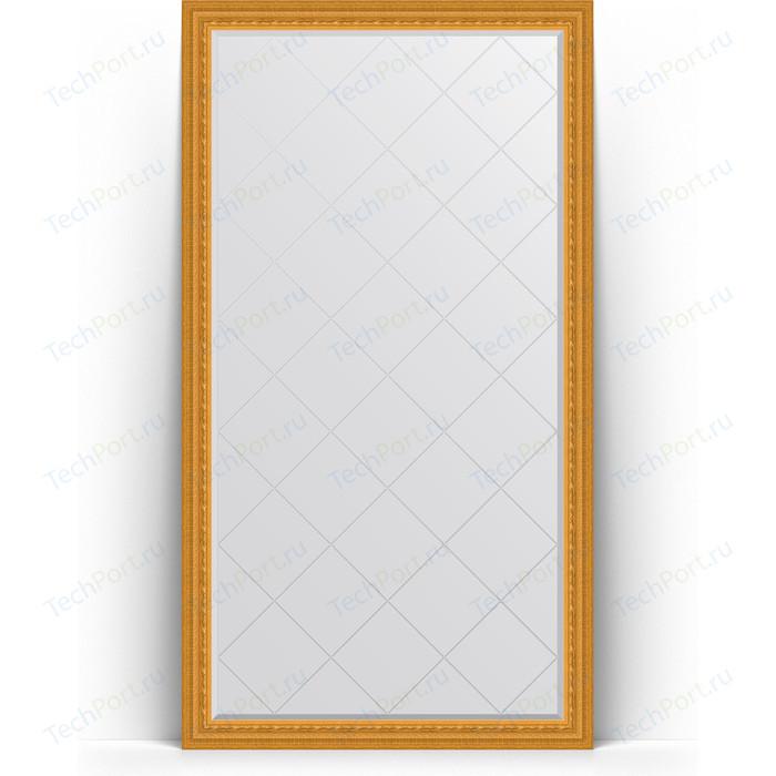 Зеркало напольное с гравировкой Evoform Exclusive-G Floor 110x199 см, в багетной раме - сусальное золото 80 мм (BY 6349) зеркало evoform exclusive floor 199х100 сусальное золото