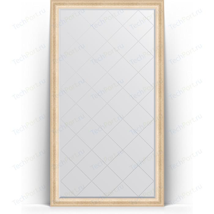 Зеркало напольное с гравировкой Evoform Exclusive-G Floor 110x200 см, в багетной раме - старый гипс 82 мм (BY 6350) зеркало evoform exclusive g floor 200х110 старый гипс