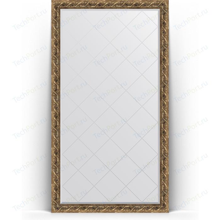 Зеркало напольное с гравировкой Evoform Exclusive-G Floor 111x200 см, в багетной раме - фреска 84 мм (BY 6351) зеркало evoform exclusive g 185х131 фреска