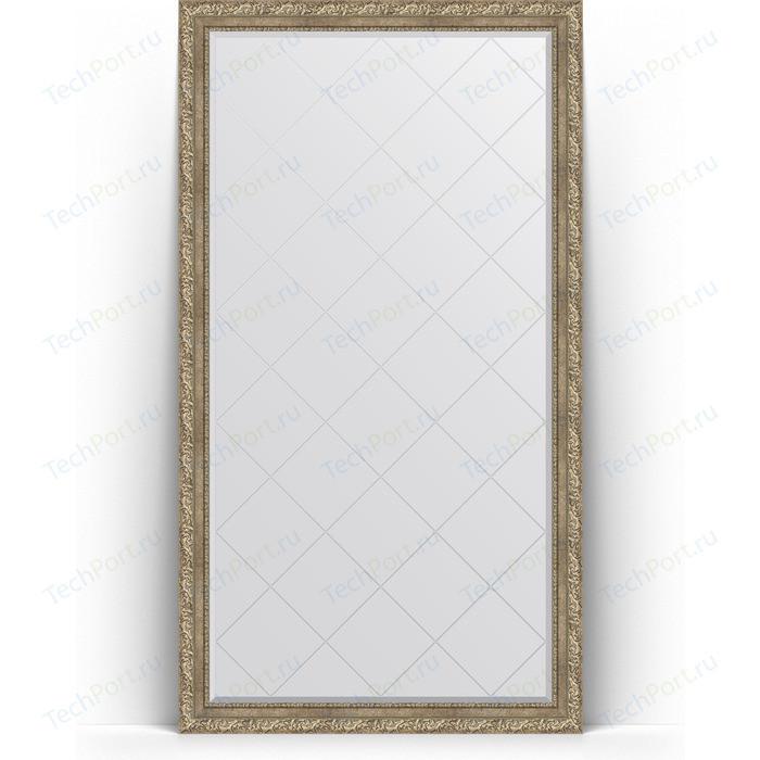 Зеркало напольное с гравировкой Evoform Exclusive-G Floor 110x200 см, в багетной раме - виньетка античное серебро 85 мм (BY 6353) зеркало evoform exclusive g 72х55 виньетка античное серебро