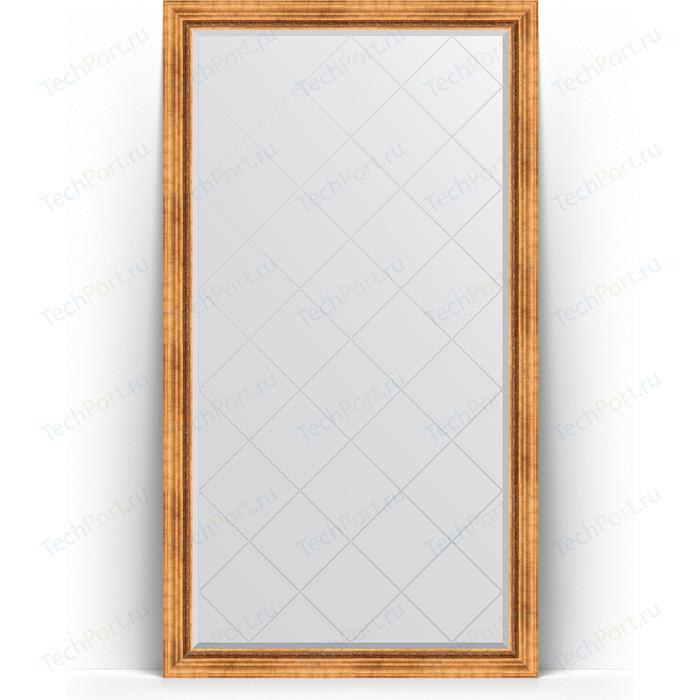 Зеркало напольное с гравировкой Evoform Exclusive-G Floor 111x201 см, в багетной раме - римское золото 88 мм (BY 6357) зеркало напольное с гравировкой evoform exclusive g floor 81x201 см в багетной раме римское золото 88 мм by 6317