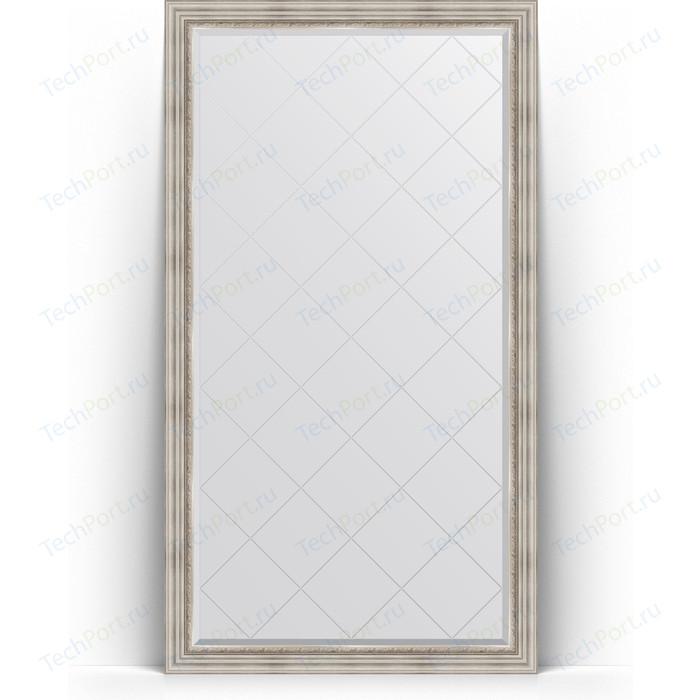 Зеркало напольное с гравировкой Evoform Exclusive-G Floor 111x201 см, в багетной раме - римское серебро 88 мм (BY 6358) зеркало с гравировкой evoform exclusive g 86x86 см в багетной раме римское серебро 88 мм by 4319
