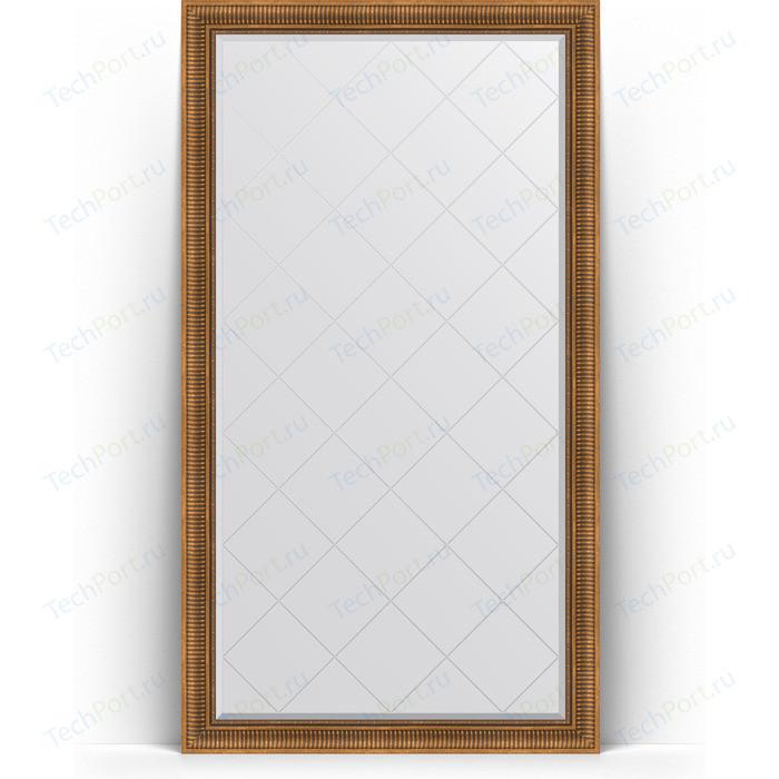 Фото - Зеркало напольное с гравировкой Evoform Exclusive-G Floor 112x202 см, в багетной раме - бронзовый акведук 93 мм (BY 6362) зеркало с фацетом в багетной раме поворотное evoform exclusive 57x77 см бронзовый акведук 93 мм by 3388