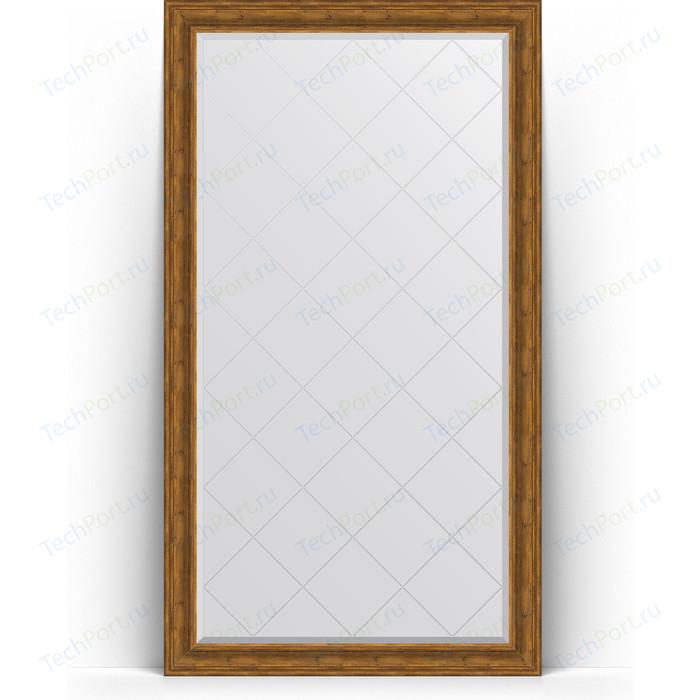 Зеркало напольное с гравировкой Evoform Exclusive-G Floor 114x204 см, в багетной раме - травленая бронза 99 мм (BY 6369)