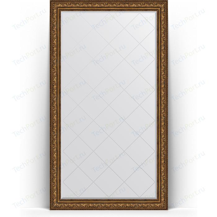 Фото - Зеркало напольное с гравировкой Evoform Exclusive-G Floor 115x205 см, в багетной раме - виньетка состаренная бронза 109 мм (BY 6377) зеркало напольное с фацетом evoform exclusive floor 85x205 см в багетной раме виньетка античная бронза 109 мм by 6135