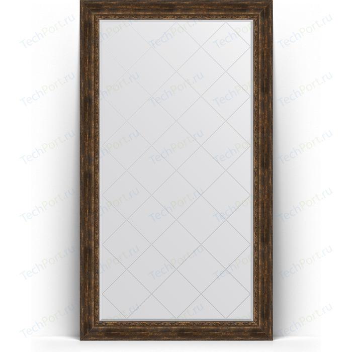 Зеркало напольное с гравировкой Evoform Exclusive-G Floor 117x207 см, в багетной раме - состаренное дерево с орнаментом 120 мм (BY 6380) зеркало напольное 87х207 см состаренное дерево с орнаментом evoform exclusive floor by 6140