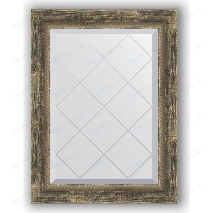 Фото - Зеркало с гравировкой поворотное Evoform Exclusive-G 53x71 см, в багетной раме - старое дерево с плетением 70 мм (BY 4006) зеркало с гравировкой поворотное evoform exclusive g 53x71 см в багетной раме серебряный бамбук 73 мм by 4007