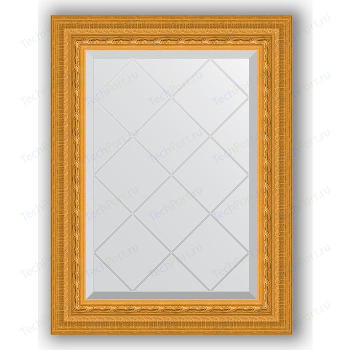Зеркало с гравировкой поворотное Evoform Exclusive-G 55x72 см, в багетной раме - сусальное золото 80 мм (BY 4009) зеркало evoform exclusive floor 199х100 сусальное золото
