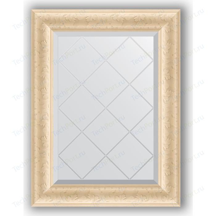 Зеркало с гравировкой поворотное Evoform Exclusive-G 55x72 см, в багетной раме - старый гипс 82 мм (BY 4011) зеркало evoform exclusive g floor 200х110 старый гипс