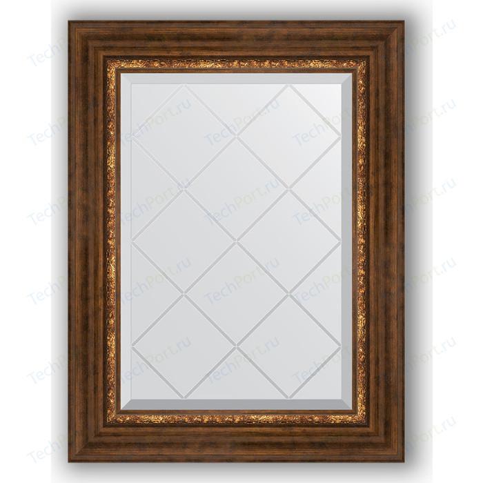 Зеркало с гравировкой поворотное Evoform Exclusive-G 56x74 см, в багетной раме - римская бронза 88 мм (BY 4019)