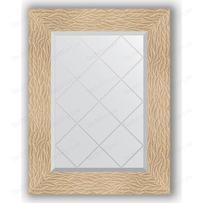 Зеркало с гравировкой поворотное Evoform Exclusive-G 56x74 см, в багетной раме - золотые дюны 90 мм (BY 4021) зеркало с гравировкой поворотное evoform exclusive g 56x74 см в багетной раме золотые дюны 90 мм by 4021