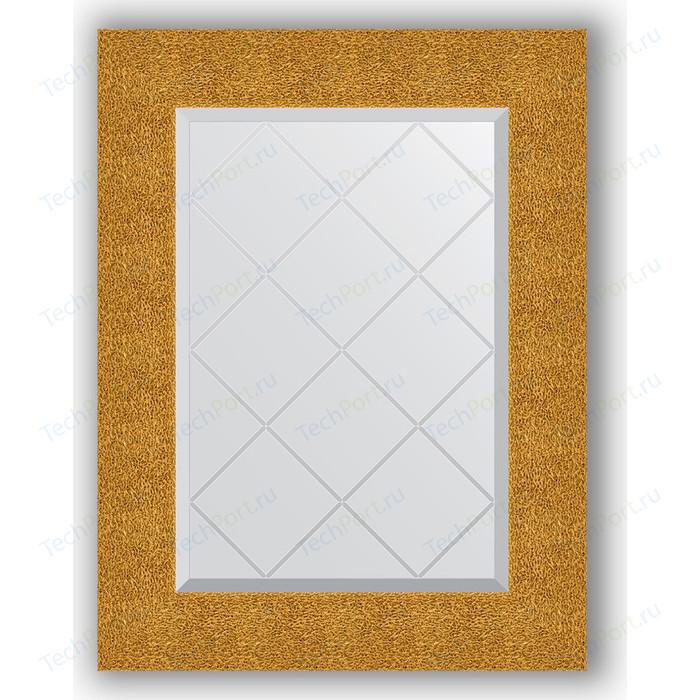 Зеркало с гравировкой поворотное Evoform Exclusive-G 56x74 см, в багетной раме - чеканка золотая 90 мм (BY 4022) зеркало с гравировкой поворотное evoform exclusive g 56x74 см в багетной раме золотые дюны 90 мм by 4021