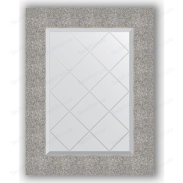 Зеркало с гравировкой поворотное Evoform Exclusive-G 56x74 см, в багетной раме - чеканка серебряная 90 мм (BY 4023) зеркало с гравировкой поворотное evoform exclusive g 56x74 см в багетной раме золотые дюны 90 мм by 4021