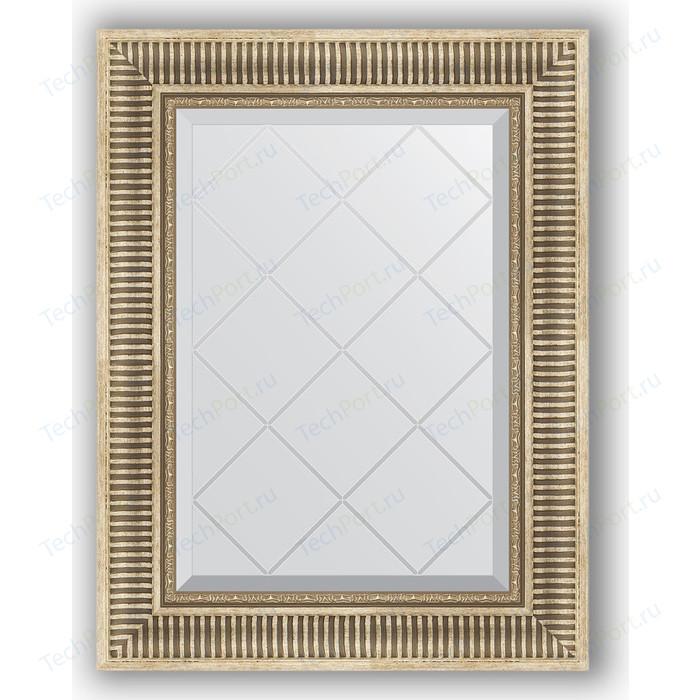 Зеркало с гравировкой поворотное Evoform Exclusive-G 57x75 см, в багетной раме - серебряный акведук 93 мм (BY 4024)