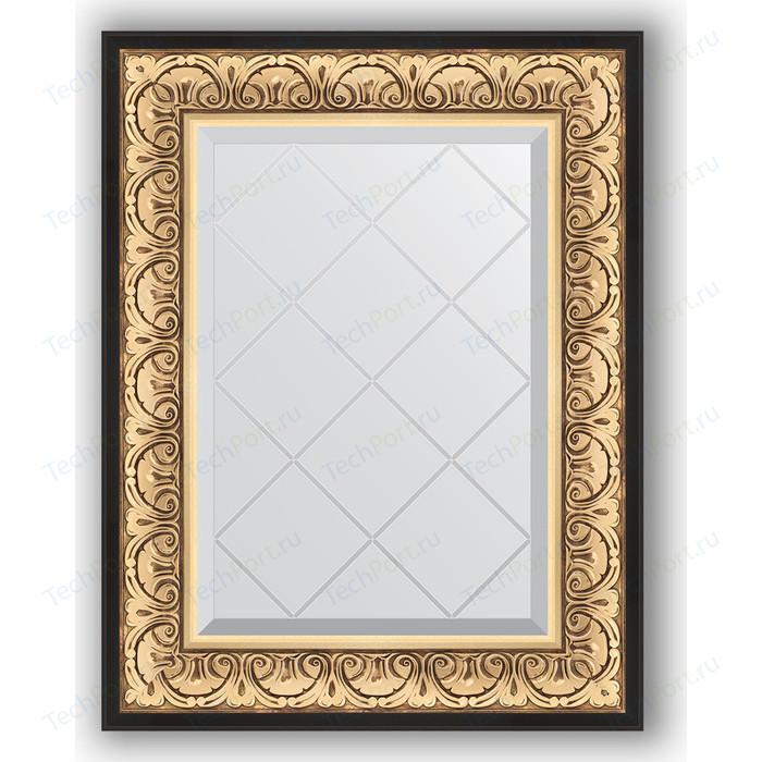 Зеркало с гравировкой поворотное Evoform Exclusive-G 60x77 см, в багетной раме - барокко золото 106 мм (BY 4036)