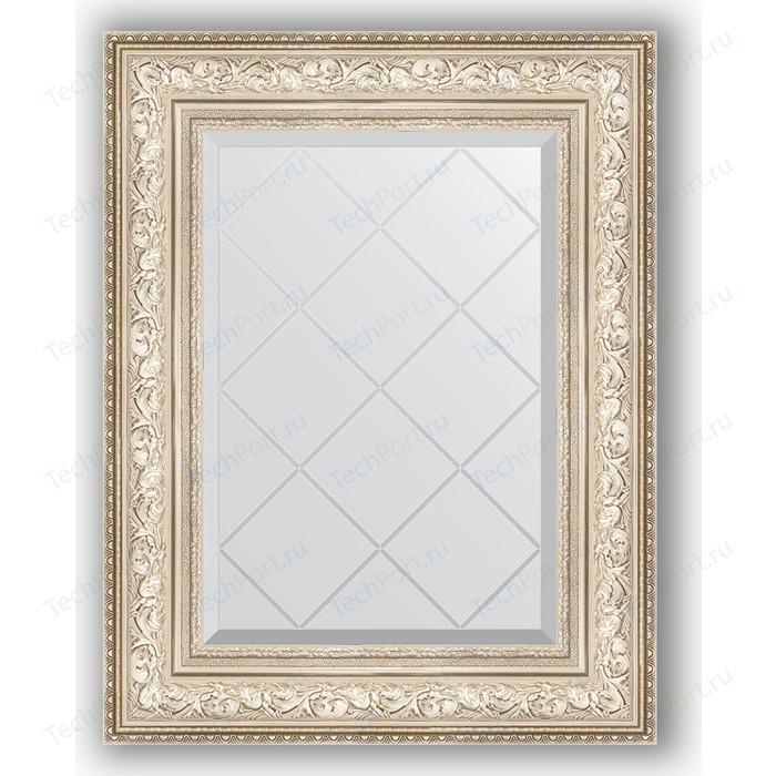 Зеркало с гравировкой поворотное Evoform Exclusive-G 60x78 см, в багетной раме - виньетка серебро 109 мм (BY 4039) зеркало с фацетом в багетной раме поворотное evoform exclusive 80x110 см виньетка серебро 109 мм by 3478
