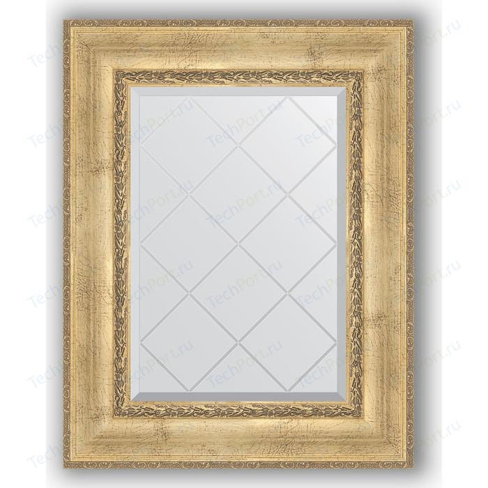 Зеркало с гравировкой поворотное Evoform Exclusive-G 62x80 см, в багетной раме - состаренное серебро орнаментом 120 мм (BY 4041)