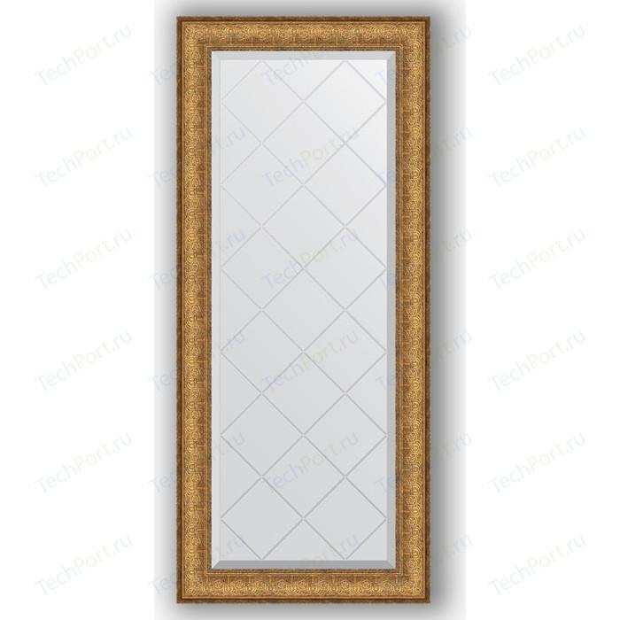 Зеркало с гравировкой поворотное Evoform Exclusive-G 54x123 см, в багетной раме - медный эльдорадо 73 мм (BY 4051)