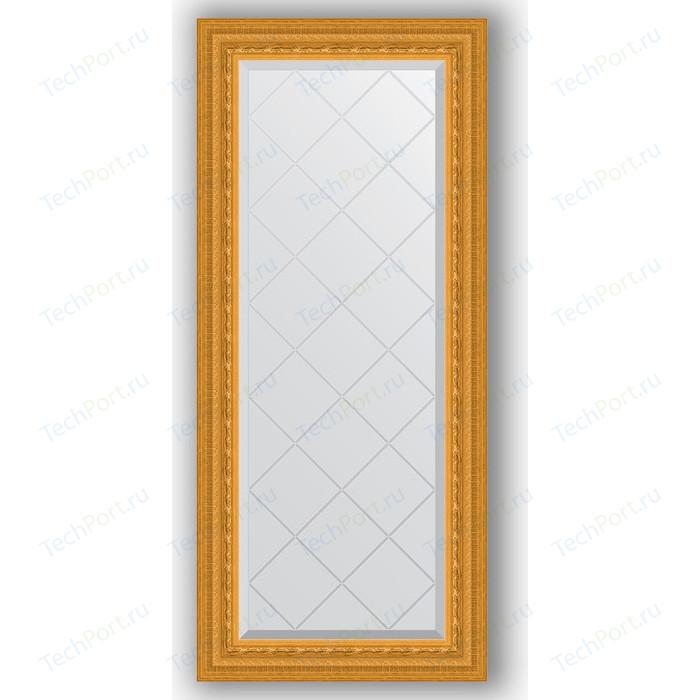 Зеркало с гравировкой поворотное Evoform Exclusive-G 55x124 см, в багетной раме - сусальное золото 80 мм (BY 4052) зеркало evoform exclusive floor 199х100 сусальное золото