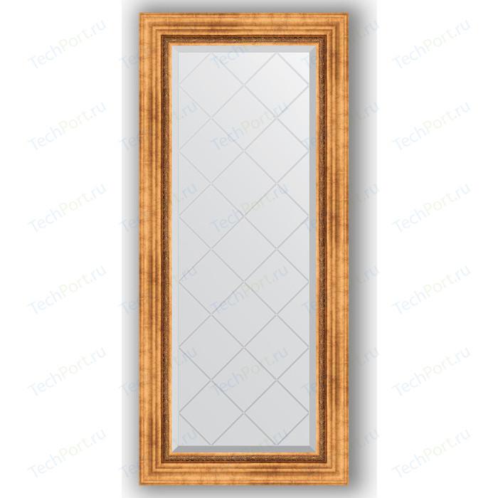 Зеркало с гравировкой поворотное Evoform Exclusive-G 56x126 см, в багетной раме - римское золото 88 мм (BY 4060) зеркало напольное с гравировкой evoform exclusive g floor 81x201 см в багетной раме римское золото 88 мм by 6317