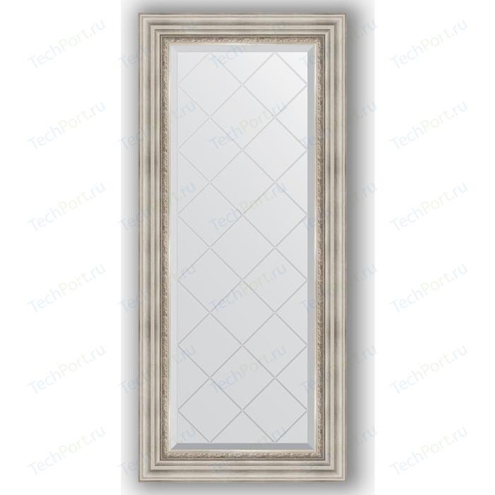 Зеркало с гравировкой поворотное Evoform Exclusive-G 56x126 см, в багетной раме - римское серебро 88 мм (BY 4061) зеркало с гравировкой evoform exclusive g 86x86 см в багетной раме римское серебро 88 мм by 4319