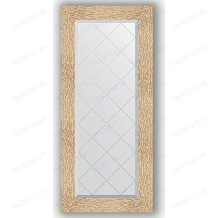 Зеркало с гравировкой поворотное Evoform Exclusive-G 56x126 см, в багетной раме - золотые дюны 90 мм (BY 4064) зеркало с гравировкой поворотное evoform exclusive g 56x74 см в багетной раме золотые дюны 90 мм by 4021
