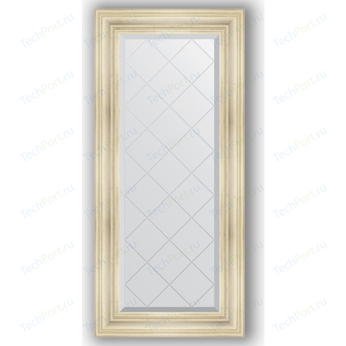 Фото - Зеркало с гравировкой поворотное Evoform Exclusive-G 59x128 см, в багетной раме - травленое серебро 99 мм (BY 4074) зеркало в багетной раме поворотное evoform definite 82x102 см травленое серебро 99 мм by 3284