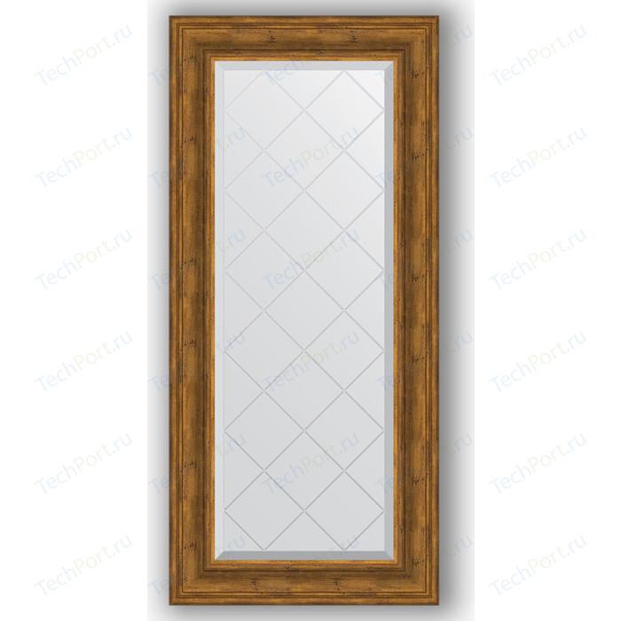 Зеркало с гравировкой поворотное Evoform Exclusive-G 59x128 см, в багетной раме - травленая бронза 99 мм (BY 4075)