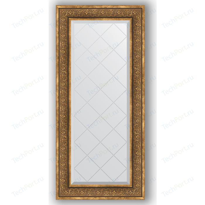 Зеркало с гравировкой поворотное Evoform Exclusive-G 59x129 см, в багетной раме - вензель бронзовый 101 мм (BY 4077)