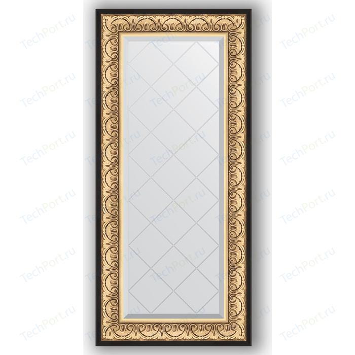 Зеркало с гравировкой поворотное Evoform Exclusive-G 60x130 см, в багетной раме - барокко золото 106 мм (BY 4079)