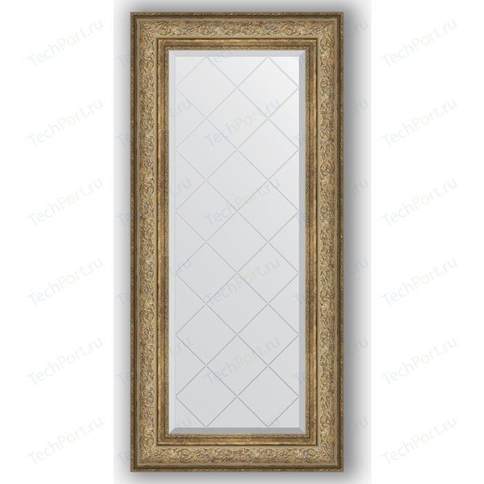 Фото - Зеркало с гравировкой поворотное Evoform Exclusive-G 60x130 см, в багетной раме - виньетка античная бронза 109 мм (BY 4081) зеркало напольное с фацетом evoform exclusive floor 85x205 см в багетной раме виньетка античная бронза 109 мм by 6135