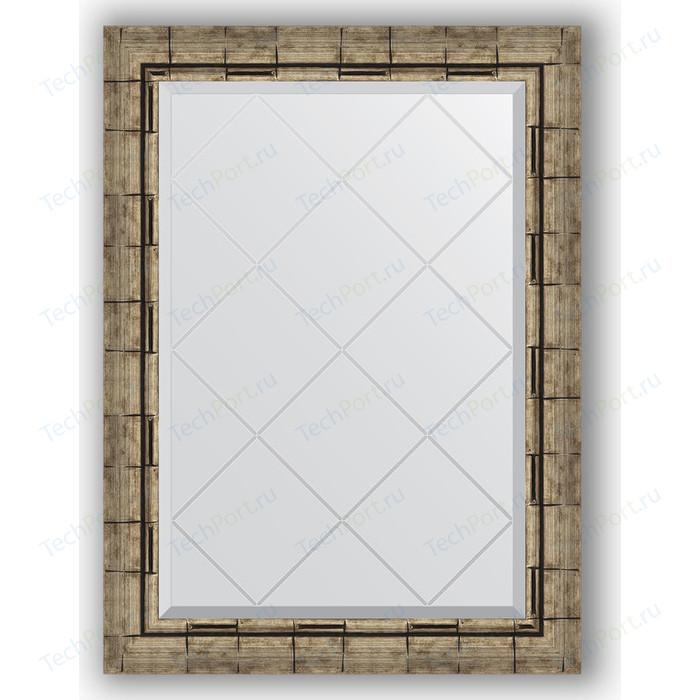 Фото - Зеркало с гравировкой поворотное Evoform Exclusive-G 63x86 см, в багетной раме - серебряный бамбук 73 мм (BY 4093) зеркало с гравировкой поворотное evoform exclusive g 53x71 см в багетной раме серебряный бамбук 73 мм by 4007